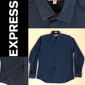 Express dress shirt in dark blue